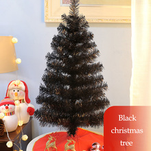 90CM Black Mini Artificial Christmas Tree Decorations Family Decoration Home Party Decor Wedding