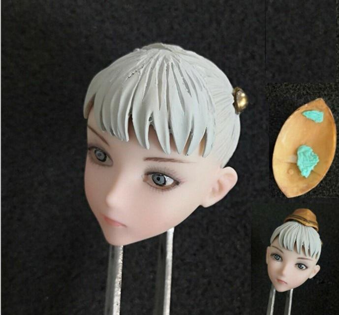 "YMTOYS 1:6 White Asian Head Sculpt Model W Double Braid Fit 12/"" Female Figure"
