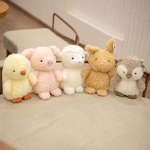 Nice Hot Kawaii Duck Plush Toys Cute Stuffed Animal Soft Real Life Owl Rabbit Pig Sheep Appease Doll Birthday Gift For Kids Toy