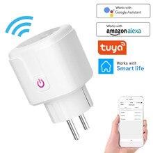 Enchufe inteligente inalámbrico con WiFi, adaptador para Reino Unido, UE, EE. UU., Control remoto por voz, alimentación, Monitor de energía, enchufe temporizador para Alexa y Google Home