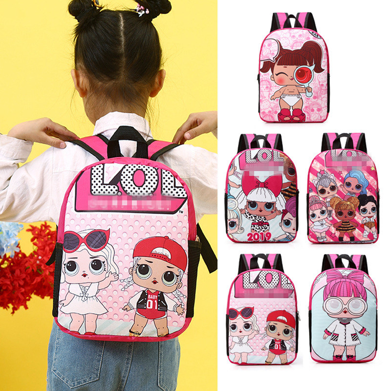 School-Bag Lol-Bag-Supplies Kids Backpack Girls Super-Mario The for And Stationery Gift