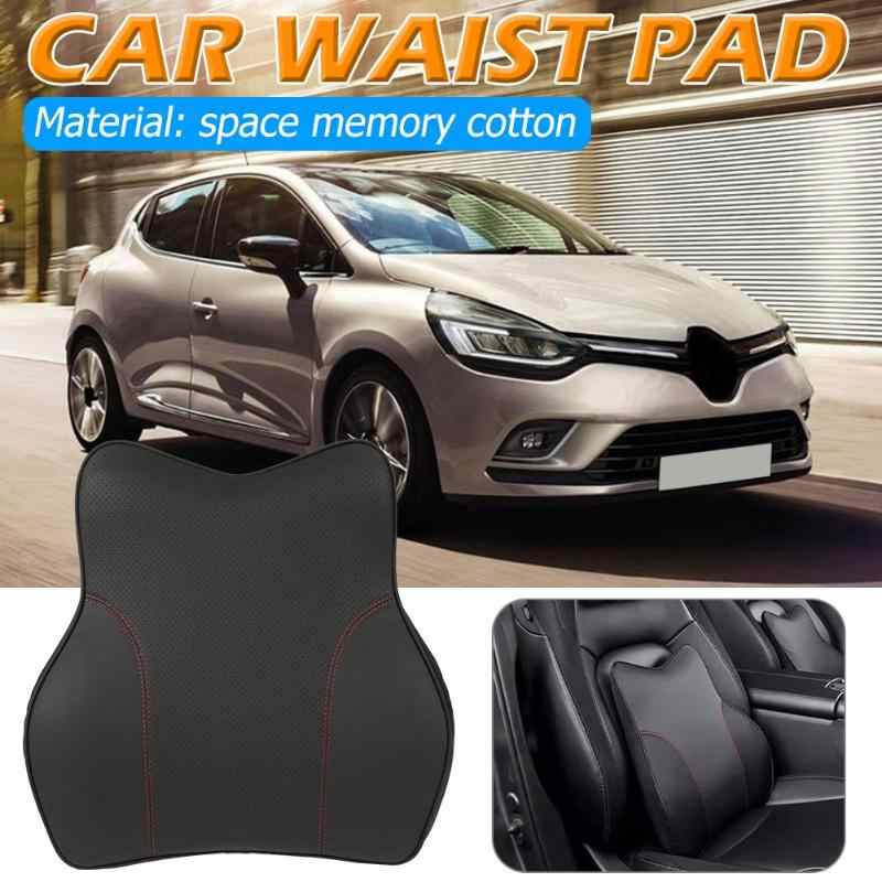 Black Memory Foam Car Waist Support Seat Back Lumbar Cushion Easy Disassemble Easy Clean Breathable Durable Neck Rest Pillow