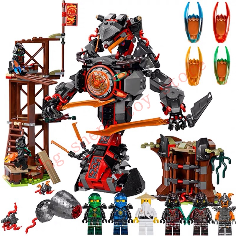 734 PCS 10583 Dawn of Iron Doom Ninjagoes Mini Figures Set Toys for kids Compatible legoingsly Ninjagoes <font><b>70626</b></font> Building Blocks image