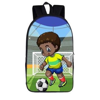 16 inch Afro Black Art Boy School Backpack  1