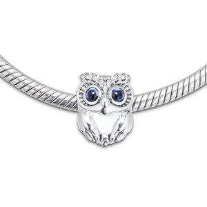 Image 5 - Hibou étincelant gros yeux perles de cristal pour Bracelets à breloques 2019 automne 925 bijoux en argent Sterling perles à breloques pour la fabrication de bijoux