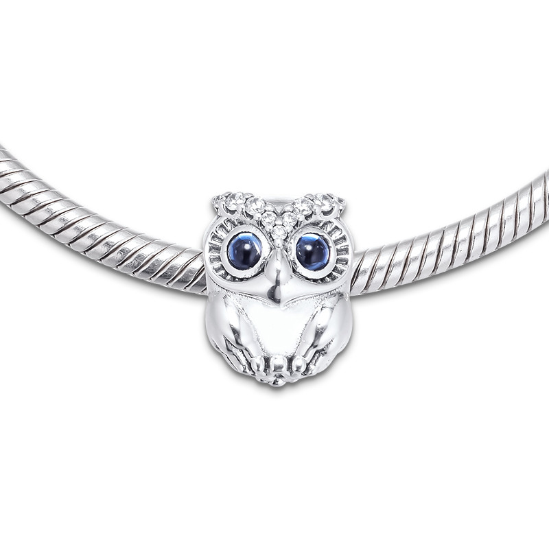 Image 5 - Sparkling Owl Big Eyes Crystal Beads for Charms Bracelets 2019 Autumn 925 Sterling Silver Jewelry Charm Beads for Jewelry MakingBeads   -