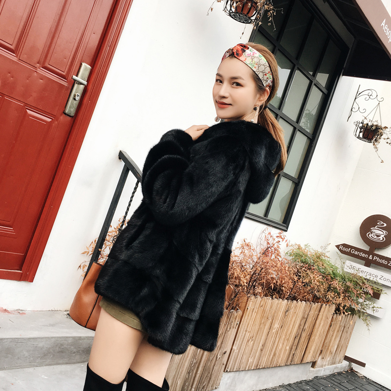 Fur Faced Double Coat Female Real Mink Fur Coats 2020 Winter Jacket Women Luxury Natural Fur Jackets Chaqueta Mujer MY S S