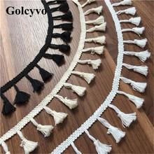 1Yard White 100% Cotton Tassels Lace Trims Edge Clothing DIY Sewing Crafts 5cm Width стоимость