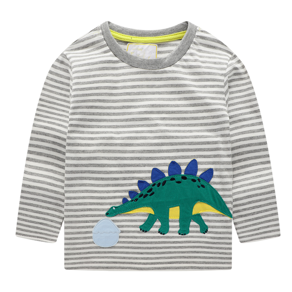 Baby Boys T shirts for Kids Clothing Autumn Winter Children T shirt for Boy Clothes Animal Pattern Toddler Tops Tee Shirt Fille 4
