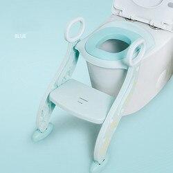 Asiento de entrenamiento plegable para niños en el baño con escalera ajustable para niños