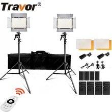 Travor TL 600S 2.4g conduziu a luz de vídeo 3200k/5500k cri95 conduziu a luz da câmera com suporte de luz para o estúdio fotograpy youtube