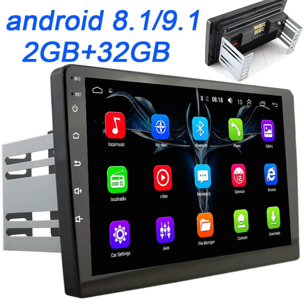 2 din 車の Android ラジオマルチメディアプレーヤー 10 インチ 2 グラム RAM トヨタフォルクスワーゲン現代起亜 Suzuk 日産ホンダアウ Lada