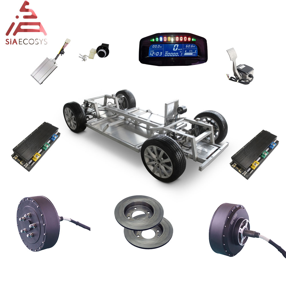 Electric Car Conversion Kit QS Motor 8000W 273 Dual 2wd 96V 115kph BLDC Hub Motor Wheel Conversion Kits for Electric Car image