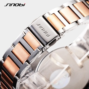 Image 5 - SINOBI 제네바 시계 황금 여성 패션 시계 팔찌 손목 시계 날짜 쿼츠 시계 유명 브랜드 숙녀 Montre Femme