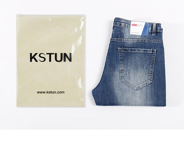 KSTUN Skinny Jeans Men Cropped Pants Ripped Stretch LIght Blue Side Striped Cuffs Casual Yong Boys Jeans Hiphop Distressed Jeans 19