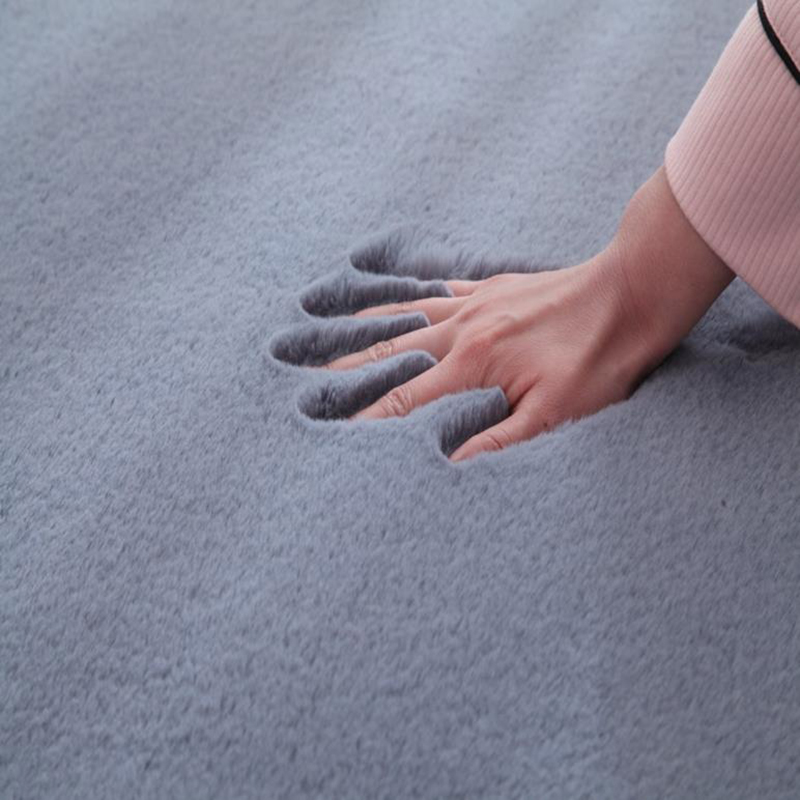 Imitation Rabbit Fur Carpet Plush Soft Comfortable Modern Simple Bedroom/living Room Rug Balcony Mat Solid Color
