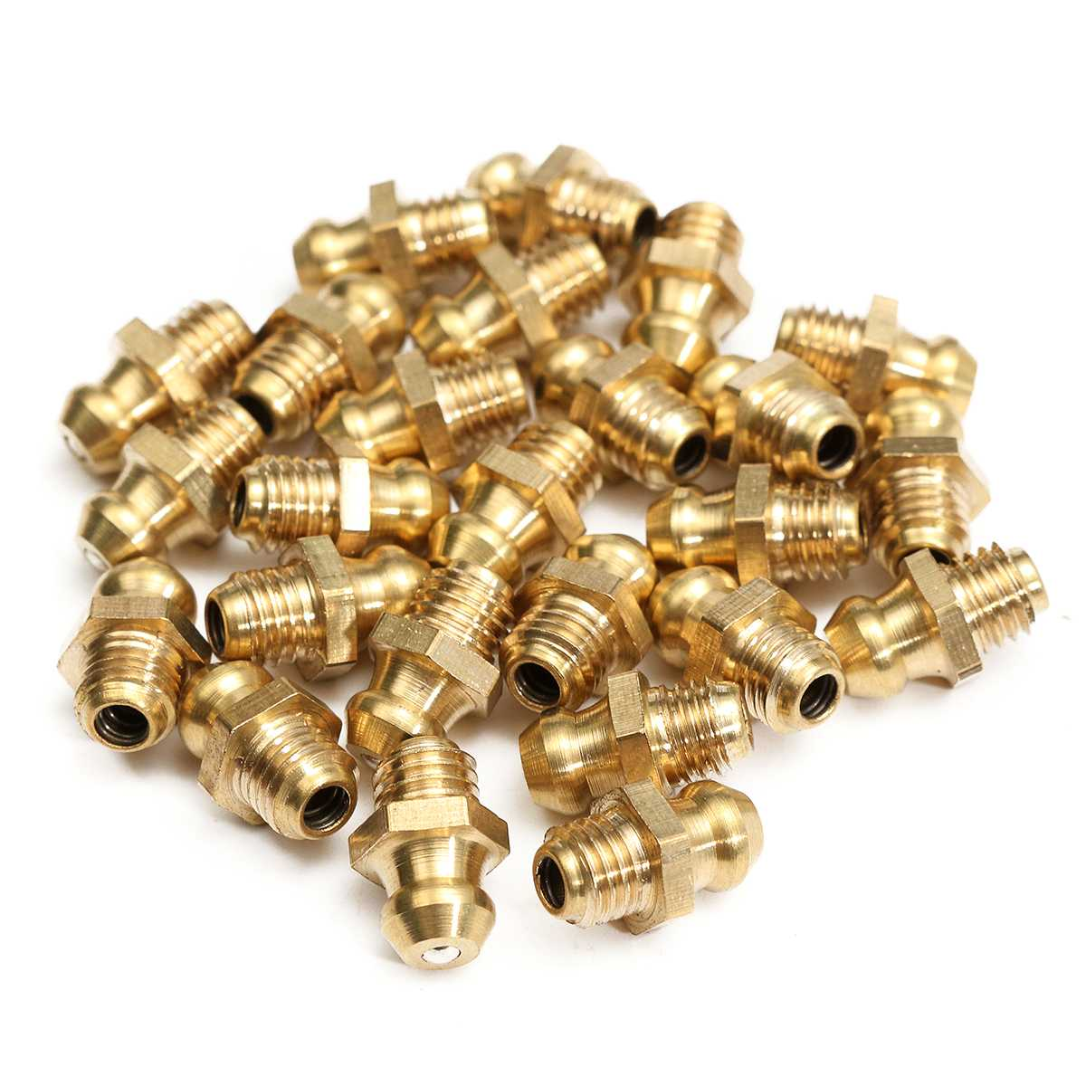 1//4-28 STRAIGHT 15//16 GREASE FITTING ZINC /& DICHROMATE PACK OF 50