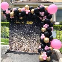 107 шт. черный, розовый шар комплект гирлянды как фон для дня рождения Детские Свадебные душ вечерние украшения