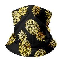 Bandana Women Headband Scarf Pineapple Print New Design Eyes Dustproof Multifunctional Seamless Tubular Ring