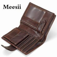 Meesii Genuine Leather Passport Wallet Travel Passport Cover