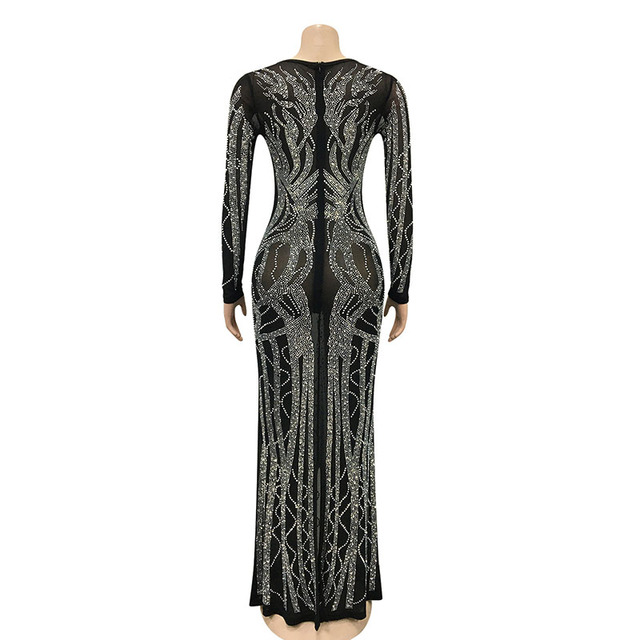 Gorgeous Crystal Gown  V Neck 4