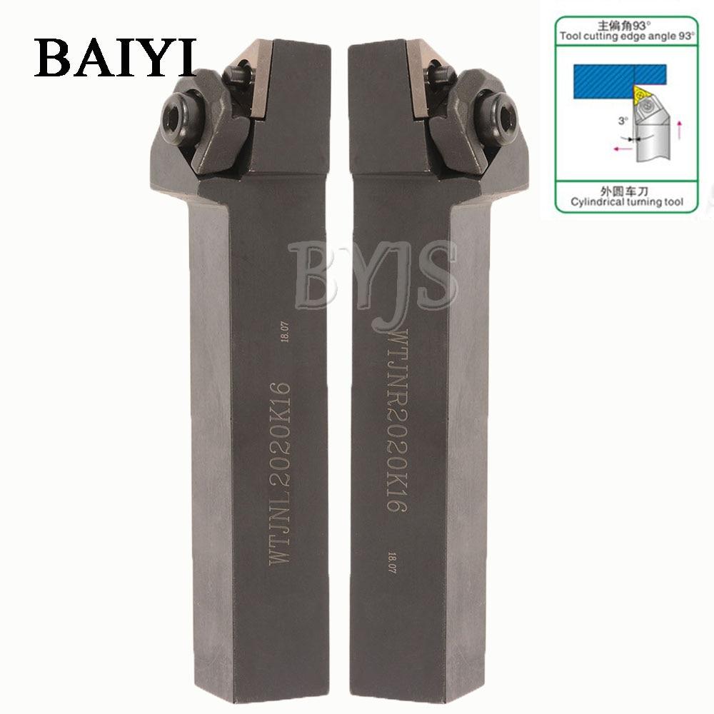 WTJNR2020K16 WTJNL 2020K16 Indexable External Cutting Turning Tool Holder Lathe CNC Turning Cutter Lathe Tool Holder For TNMG16