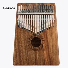17 Keys Kalimba Thumb Piano Finger Percussion Wood Musical Solid KOA Body African Camphor Instrument Upright