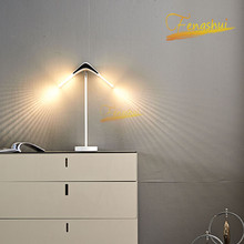 Modern Minimalist Shaped Reading Lamp Nordic Creative LED Table Lamp Study Bedside Lamp Bedroom Living Room Deco Table Lights nordic luxury led table lamp lighting modern k9 material crystal minimalist table lights study bedroom dining room table lamps