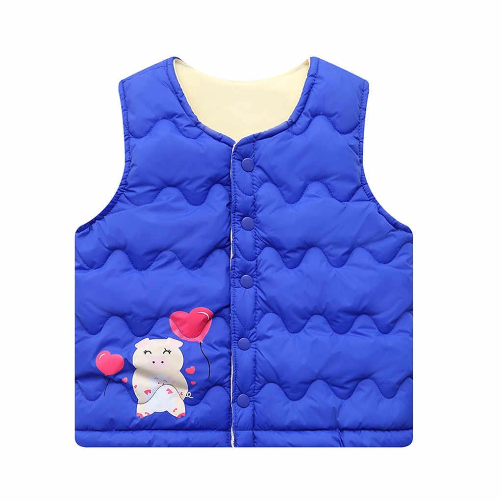 Chaleco cálido de invierno para niños, niños, Grils, niños, chaleco de cerdo de dibujos animados, abrigo, abrigo, traje de nieve, abrigos kamizelka dziecko