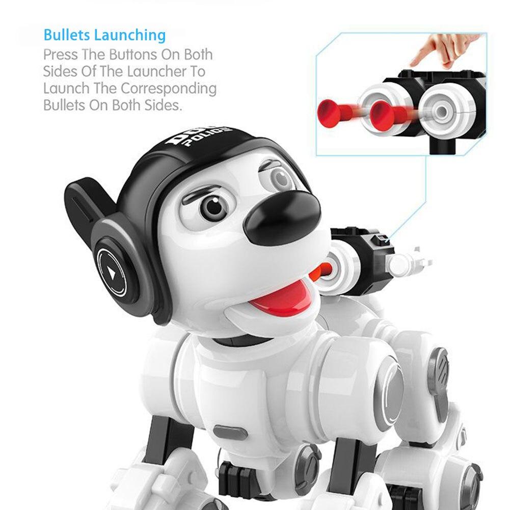 Controle remoto infravermelho robô inteligente cão crianças