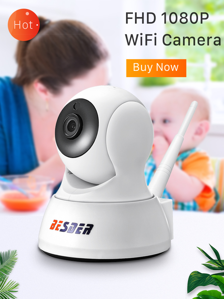 BESDER Mini Camera Baby-Monitor CCTV Night-Vision Icsee Home-Security Wireless 720P Audio