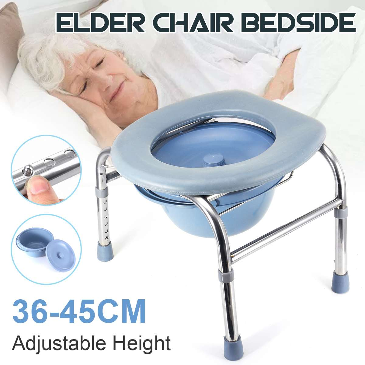 Commode - Seat Commode For Senior Adults Handicap Elderly Pregnant Woman  Folding Portable Medical Toilet Chair Stool