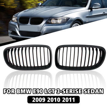 Matte Black Front Sport Kidney Grille Grill For BMW E90 E91 LCT 3-Serise Sedan 2009 2010 2011 2012 2013 Car Racing Grills