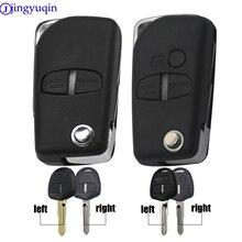 jingyuqin Remote Modified Flip Car Key Case For Mitsubishi Pajero Sport Outlander Grandis LANCER-EX ASX 2/3 Button Fob Shell