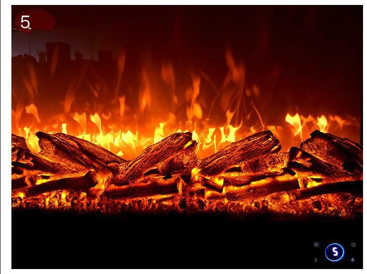 Fireplace Core Simulation Flame Embedded Electronic Fireplace False Fire Decorative Cabinet Heater Home Electronic Fireplace