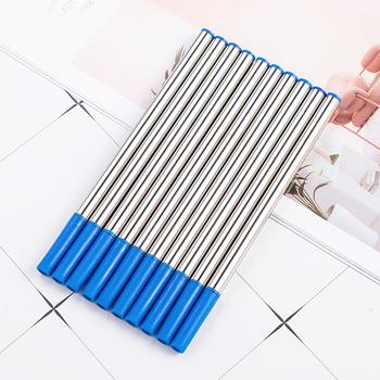 Wkład metalowy 0 5mm wkład do podpisu wkład do wody uniwersalny wkład do długopisu artykuły szkolne materiały biurowe hurtowo tanie i dobre opinie Napełniania Długopis napełniania M00069 Pen Pen Blue Black Neutral Refill 11cm