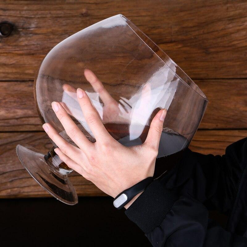 6000ml 크리 에이 티브 슈퍼 큰 브랜디 큰 유리 레드 와인 잔 컵 Ktv 바 큰 용량 맥주 머그잔 마시는 안경 홈 인테리어