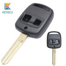 Keyecu para subaru forester legacy impreza outback 2000 2001 2002 2003 substituição do carro remoto chave caso escudo fob 2 botões