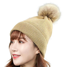 High Quality Beanie Hat Women Winter Knitted Pom Pompom Caps Autumn Female Hats for Girls Womens