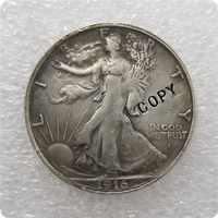 USA 1916-S (OBV) Libertad de caminar medio dólar copia monedas conmemorativas-réplica de monedas de medalla coleccionables