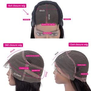Image 5 - Pelucas de cabello humano con encaje Frontal pelucas de cabello humano liso con cierre de encaje Frontal, Remy brasileño, 150%