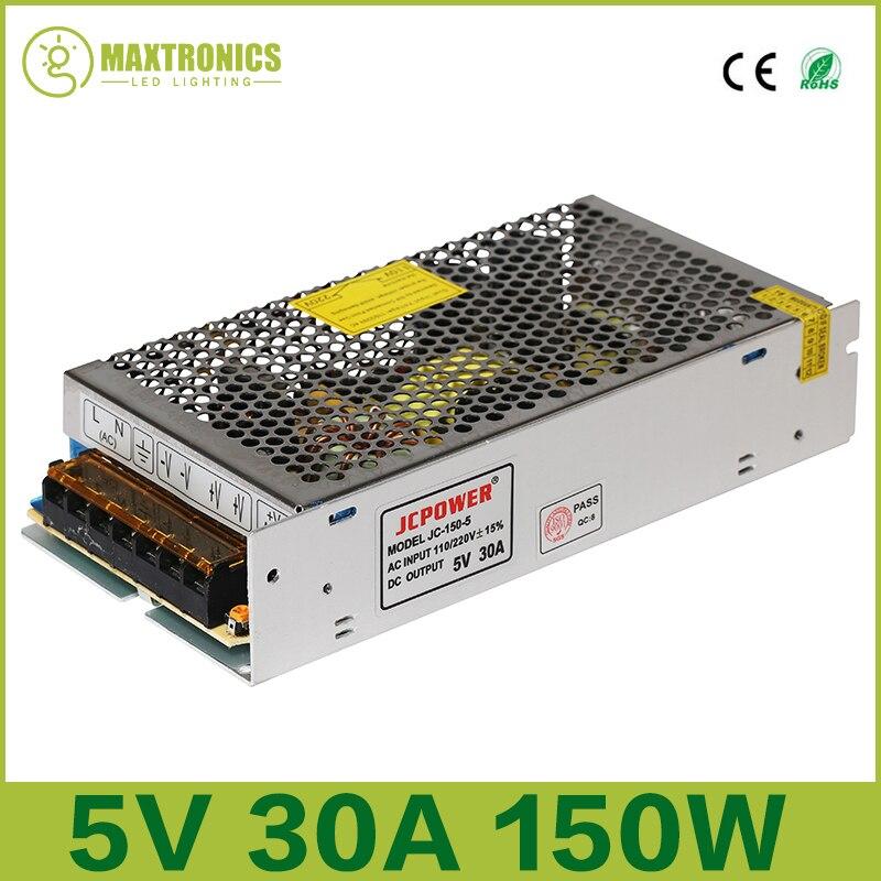 Светодиодная лента, 5 В, 30 А, 150 Вт, 110-240 В переменного тока
