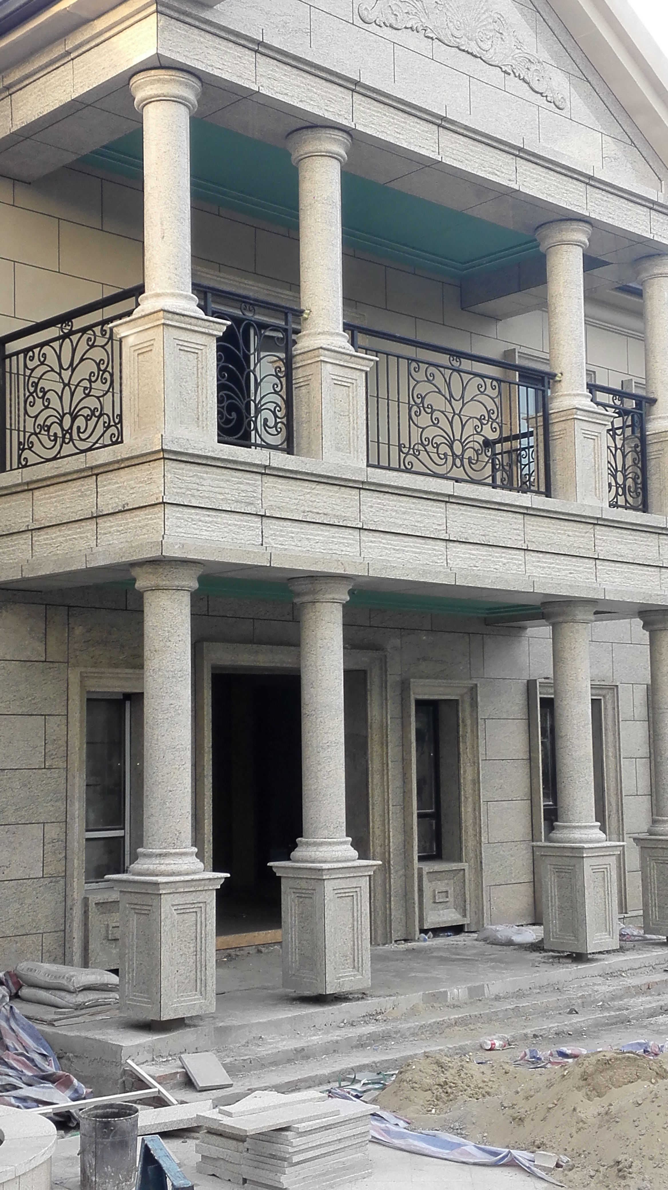 Hot Sale Hand Forged  Wrought Iron Balcony Iron Railings Iron Balustrades For House Design