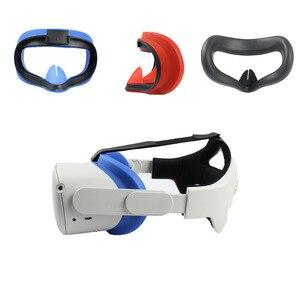 Image 2 - Yeni VR silikon arayüz kapak Oculus Quest 2 göz maskesi ped cilt Sweatproof ışık engelleme Anti sızıntı