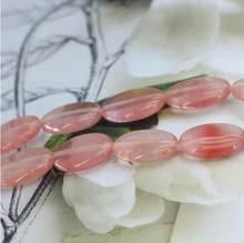Rose pastèque tourmaline ovale 13x18mm, perles en vrac 15 pouces à la mode style bricolage