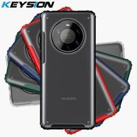KEYSION-funda Mate para Huawei Mate 40 Pro + 5G 30 Pro, funda trasera transparente a prueba de golpes para Huawei P40 Pro Plus P30 Lite