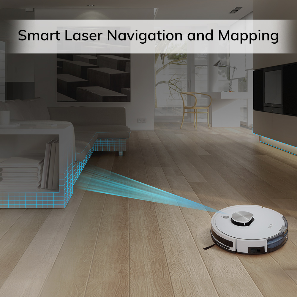 ILIFE L100 robot vacuum cleaner, LDS laser navigation, carpet pressurization, Smart Planned WIFI App Remote Control,Draw Clean 2