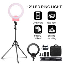 Fotografi 12 Inch Portable LED Cincin Cahaya dengan Tripod Berdiri 3200-5600K untuk YouTube Video Shooting, live Streaming, Selfie, Vlog(China)
