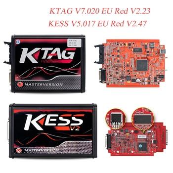 цена на Online EU Red V7.020 KTM100 KTAG V2.25 ECU Programmer OBD2 Manager Tuning Kit KESS V2 V5.017 ECU Master Chip Tuning Tool