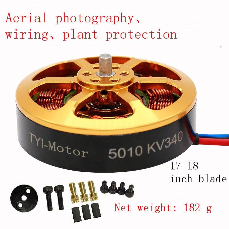 1/4 pièces moteur sans brosse 5010 340KV 280KV pour l'agriculture Drone RC avion à vendre